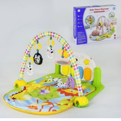 Детский развивающий коврик YL-605 с музыкальной панелью
