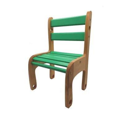 """гр Стільчик дерев`яний """"Вудік колор"""" 04-04G (1) колір зелений"""