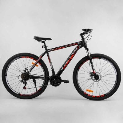 Велосипед Спортивный Corso «AVIATOR» 29'' дюймов 69847 (1) рама стальная 20'', SunRun 21 скорость, собран на 75