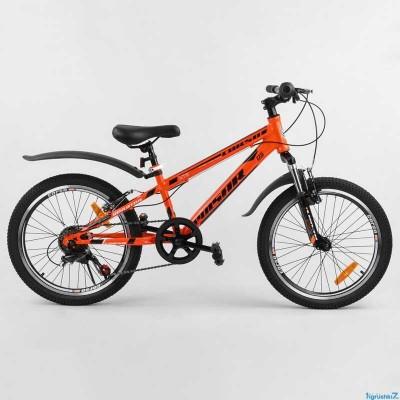"""Велосипед Спортивный CORSO «Pulsar» 20"""" дюймов 74782 (1) рама металлическая 11'', Shinemax 7 скоростей, собран на 75"""