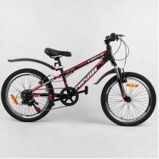 """Велосипед Спортивный CORSO «Pulsar» 20"""" дюймов 36287 (1) рама металлическая 11'', Shinemax 7 скоростей, собран на 75"""
