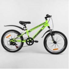 """Велосипед Спортивный CORSO «Pulsar» 20"""" дюймов 80939 (1) рама металлическая 11'', Shinemax 7 скоростей, собран на 75"""
