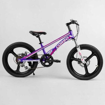 Детский спортивный велосипед 20'' CORSO «Speedline» MG-61038 (1) магниевая рама, магниевые литые диски, Shimano Revoshift 7 скоростей, собран на 75