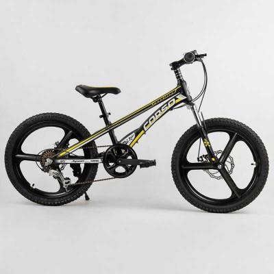 Детский спортивный велосипед 20'' CORSO «Speedline» MG-40017 (1) магниевая рама, магниевые литые диски, Shimano Revoshift 7 скоростей, собран на 75