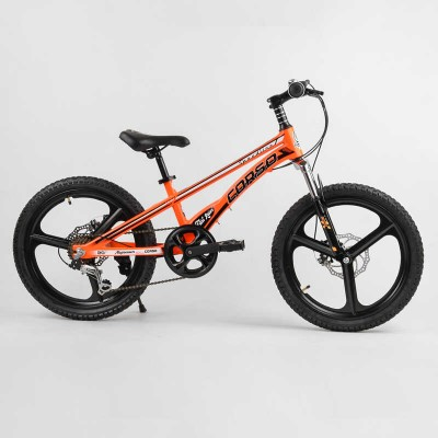 Детский спортивный велосипед 20'' CORSO «Speedline» MG-21060 (1) магниевая рама, магниевые литые диски, Shimano Revoshift 7 скоростей, собран на 75