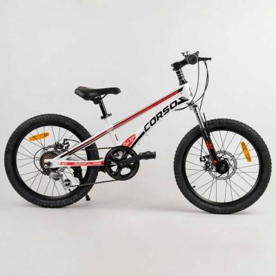 Детский спортивный велосипед 20'' CORSO «Speedline» MG-56818 (1) магниевая рама, Shimano Revoshift 7 скоростей, собран на 75