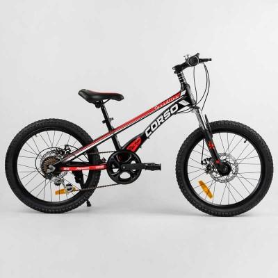 Детский спортивный велосипед 20'' CORSO «Speedline» MG-29535 (1) магниевая рама, Shimano Revoshift 7 скоростей, собран на 75