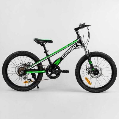 Детский спортивный велосипед 20'' CORSO «Speedline» MG-74290 (1) магниевая рама, Shimano Revoshift 7 скоростей, собран на 75