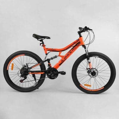 """Велосипед Спортивный CORSO «Rock-Pro» 26"""" дюймов 27779 (1) рама металлическая, SunRun 21 скорость, собран на 75"""