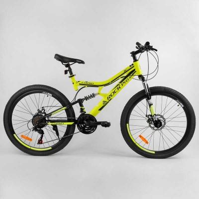 """Велосипед Спортивный CORSO «Rock-Pro» 26"""" дюймов 58340 (1) рама металлическая, SunRun 21 скорость, собран на 75"""