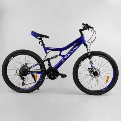 """Велосипед Спортивный CORSO «Rock-Pro» 26"""" дюймов 37925 (1) рама металлическая, SunRun 21 скорость, собран на 75"""