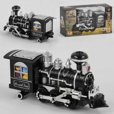 Паровоз 3071 (48) на батарейках, дым, свет, звук, в коробке