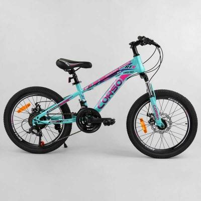 """Велосипед Спортивный CORSO 20""""дюймов 98816 (1) рама металлическая 11'', 21 скорость, собран на 75"""