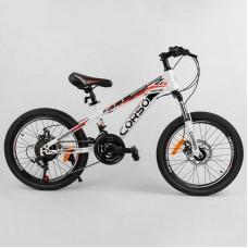 """Велосипед Спортивный CORSO 20""""дюймов 30984 (1) рама металлическая 11'', 21 скорость, собран на 75"""