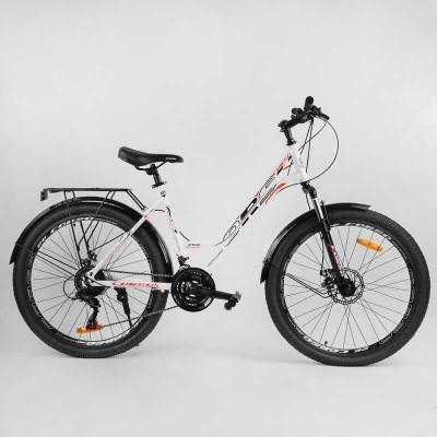"""Велосипед Спортивный CORSO «URBAN» 26"""" дюймов 99044 (1) рама металлическая 18``, SunRun 21 скорость, крылья, багажник, собран на 75"""