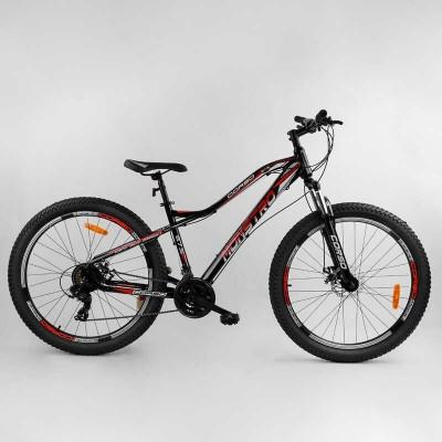 """Велосипед Спортивный CORSO «Monstro» 27.5"""" дюймов 78796 (1) ПОЛУФЭТБАЙК, рама алюминиевая, оборудование Shimano 21 скорость, собран на 75"""