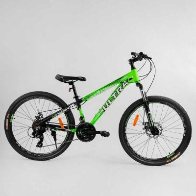 """Велосипед Спортивный CORSO «ULTRA» 26"""" дюймов 25983 (1) рама алюминиевая, оборудование Shimano 21 скорость, собран на 75"""