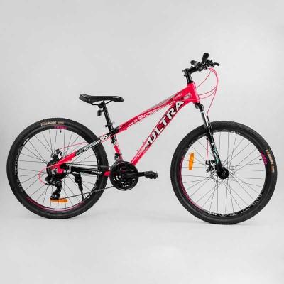 """Велосипед Спортивный CORSO «ULTRA» 26"""" дюймов 70923 (1) рама алюминиевая, оборудование Shimano 21 скорость, собран на 75"""