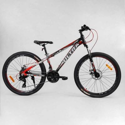 """Велосипед Спортивный CORSO «ULTRA» 26"""" дюймов 72911 (1) рама алюминиевая, оборудование Shimano 21 скорость, собран на 75"""