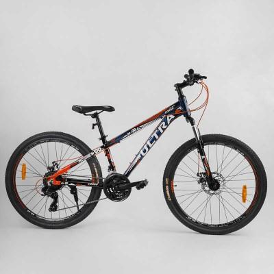 """Велосипед Спортивный CORSO «ULTRA» 26"""" дюймов 85239 (1) рама алюминиевая, оборудование Shimano 21 скорость, собран на 75"""