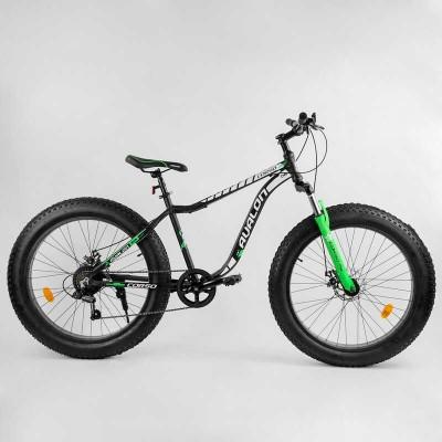 """Велосипед Спортивный CORSO «Avalon» 26"""" дюймов 95583 (1) ФЭТБАЙК, рама алюминиевая, оборудование Shimano 7 скоростей, собран на 75"""
