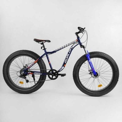 """Велосипед Спортивный CORSO «Avalon» 26"""" дюймов 14319 (1) ФЭТБАЙК, рама алюминиевая, оборудование Shimano 7 скоростей, собран на 75"""