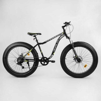 """Велосипед Спортивный CORSO «Avalon» 26"""" дюймов 27005 (1) ФЭТБАЙК, рама алюминиевая, оборудование Shimano 7 скоростей, собран на 75"""
