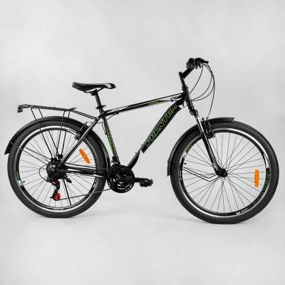 """Велосипед Спортивный CORSO «Phantom» 26"""" дюймов 83474 (1) рама металлическая, SunRun 21 скорость, крылья, багажник, собран на 75"""