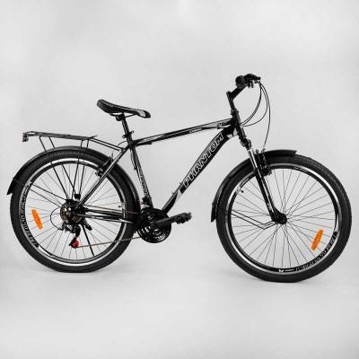 """Велосипед Спортивный CORSO «Phantom» 26"""" дюймов 88107 (1) рама металлическая, SunRun 21 скорость, крылья, багажник, собран на 75"""