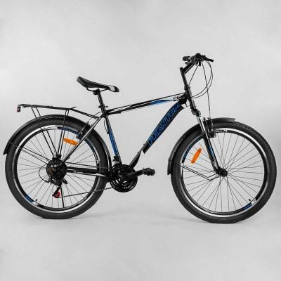 """Велосипед Спортивный CORSO «Phantom» 26"""" дюймов 25664 (1) рама металлическая, SunRun 21 скорость, крылья, багажник, собран на 75"""
