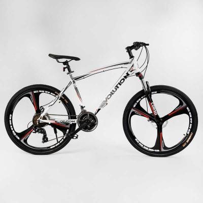 """Велосипед Спортивный CORSO «Evolution» 26"""" дюймов 43738 (1) рама алюминиевая 18``, оборудование Shimano 24 скорость, литые диски, собран на 75"""