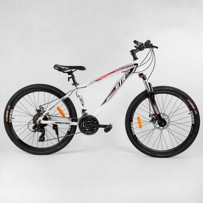 """Велосипед Спортивный CORSO «GTR-3000» 26"""" дюймов 12685 (1) рама алюминиевая, оборудование Shimano 21 скорость, собран на 75"""