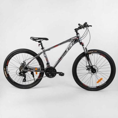 """Велосипед Спортивный CORSO «GTR-3000» 26"""" дюймов 91428 (1) рама алюминиевая, оборудование Shimano 21 скорость, собран на 75"""
