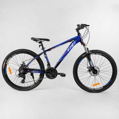 """Велосипед Спортивный CORSO «GTR-3000» 26"""" дюймов 56106 (1) рама алюминиевая, оборудование Shimano 21 скорость, собран на 75"""