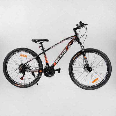 """Велосипед Спортивный CORSO «BLADE» 26"""" дюймов 40763 (1) рама металлическая 13``, оборудование Shimano 21 скорость, собран на 75"""
