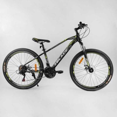 """Велосипед Спортивный CORSO «BLADE» 26"""" дюймов 78892 (1) рама металлическая 13``, оборудование Shimano 21 скорость, собран на 75"""