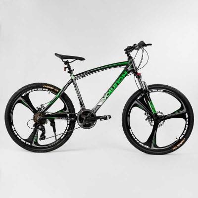 """Велосипед Спортивный CORSO «Evolution» 26"""" дюймов 46225 (1) рама алюминиевая 18``, оборудование Shimano 24 скорость, литые диски, собран на 75"""