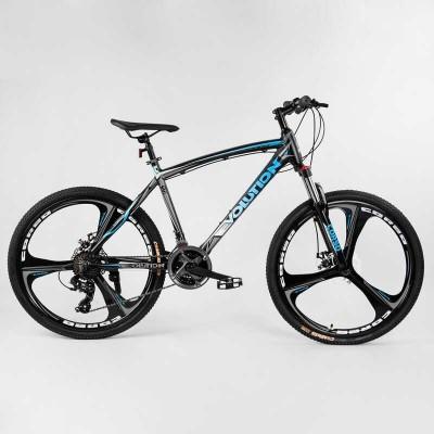 """Велосипед Спортивный CORSO «Evolution» 26"""" дюймов 32581 (1) рама алюминиевая 18``, оборудование Shimano 24 скорость, литые диски, собран на 75"""