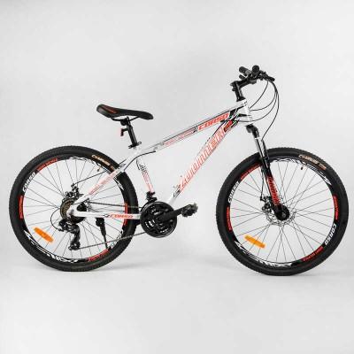 """Велосипед Спортивный CORSO «Zoomer» 26"""" дюймов 40320 (1) рама алюминиевая, оборудование Shimano 21 скорость, собран на 75"""