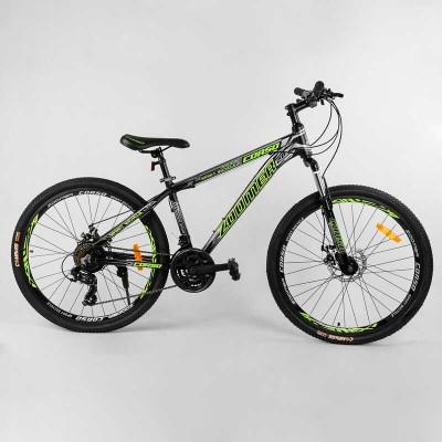 """Велосипед Спортивный CORSO «Zoomer» 26"""" дюймов 24594 (1) рама алюминиевая, оборудование Shimano 21 скорость, собран на 75"""