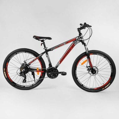 """Велосипед Спортивный CORSO «Zoomer» 26"""" дюймов 37027 (1) рама алюминиевая, оборудование Shimano 21 скорость, собран на 75"""