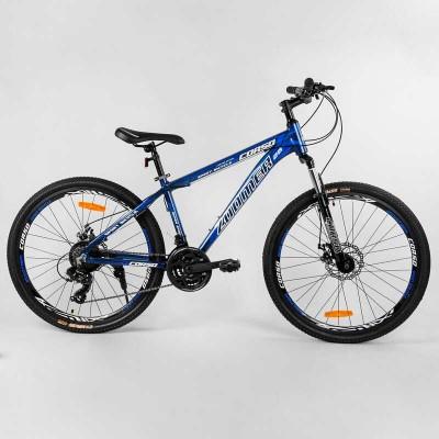 """Велосипед Спортивный CORSO «Zoomer» 26"""" дюймов 39766 (1) рама алюминиевая, оборудование Shimano 21 скорость, собран на 75"""