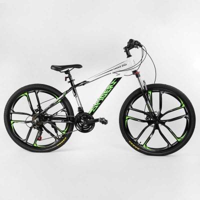 """Велосипед Спортивный CORSO «Spider» 26"""" дюймов 32873 (1) рама алюминиевая 15``, оборудование Shimano 21 скорость, литые диски, собран на 75"""