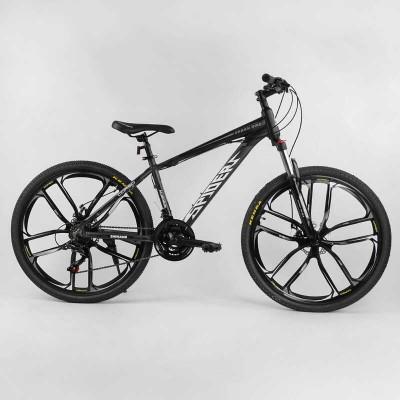 """Велосипед Спортивный CORSO «Spider» 26"""" дюймов 10727 (1) рама алюминиевая 15``, оборудование Shimano 21 скорость, литые диски, собран на 75"""