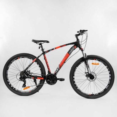 """Велосипед Спортивный CORSO «FIARO» 27.5"""" дюймов 62935 (1) рама алюминиевая, оборудование Shimano 21 скорость, собран на 75"""