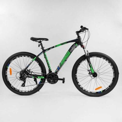 """Велосипед Спортивный CORSO «FIARO» 27.5"""" дюймов 20322 (1) рама алюминиевая, оборудование Shimano 21 скорость, собран на 75"""