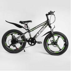 Детский спортивный велосипед 20'' CORSO «AERO» 60573 (1) стальная рама, оборудование Saiguan, 7 скоростей, литой диск, собран на 75