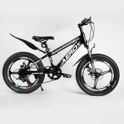 Детский спортивный велосипед 20'' CORSO «AERO» 54032 (1) стальная рама, оборудование Saiguan, 7 скоростей, литой диск, собран на 75