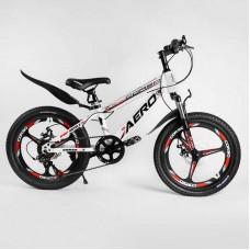 Детский спортивный велосипед 20'' CORSO «AERO» 31488 (1) стальная рама, оборудование Saiguan, 7 скоростей, литой диск, собран на 75