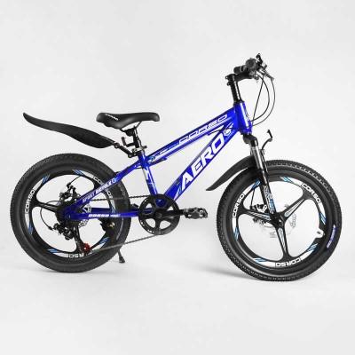 Детский спортивный велосипед 20'' CORSO «AERO» 11755 (1) стальная рама, оборудование Saiguan, 7 скоростей, литой диск, собран на 75